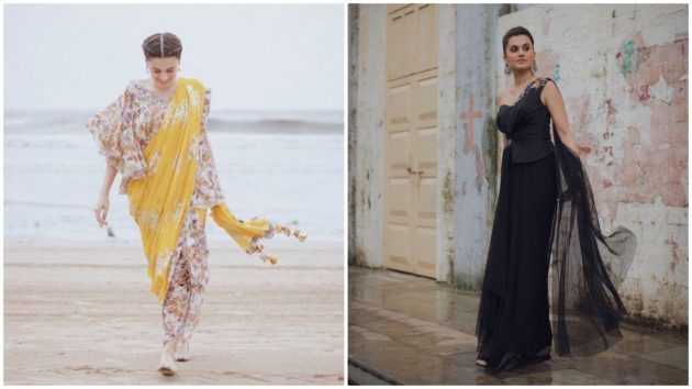"For us, it's Taapsee Pannu, draped in her fusion sarees for the film's promotion, who is the real MVP of the film ""Mission Mangal."""
