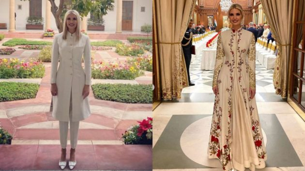 Ivanka Trump Stuns In Desi Anita Dongre And Rohit Bal Outfits On Day 2 Of Her India Visit