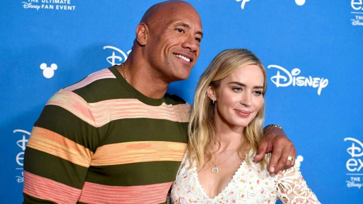 Dwayne Johnson Emily Blunt Jungle Cruise Ball and Chain Superhero movie