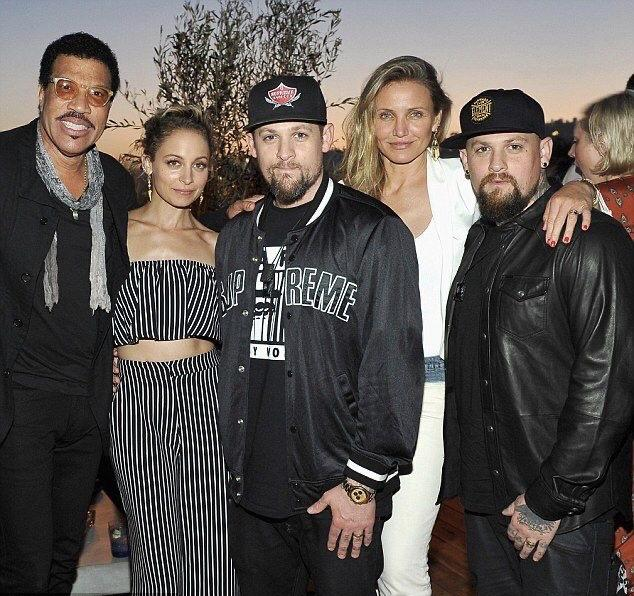 Cameron Diaz and Nicole Richie with their husbands