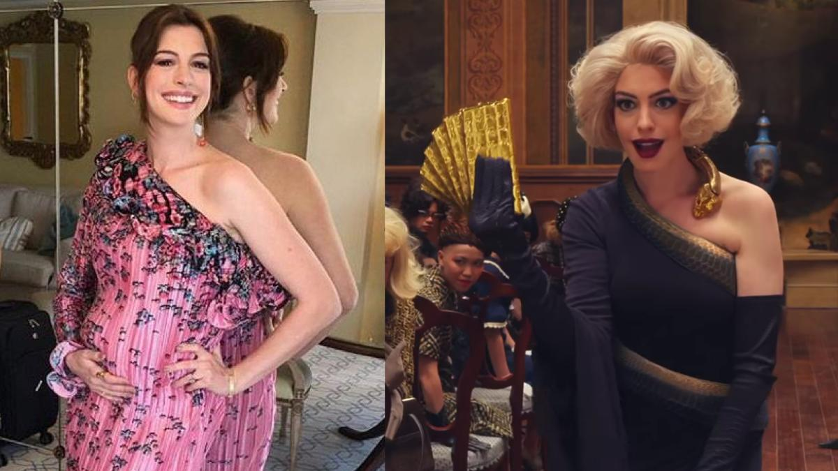 Anne Hathaway pregnant with son during The Witches