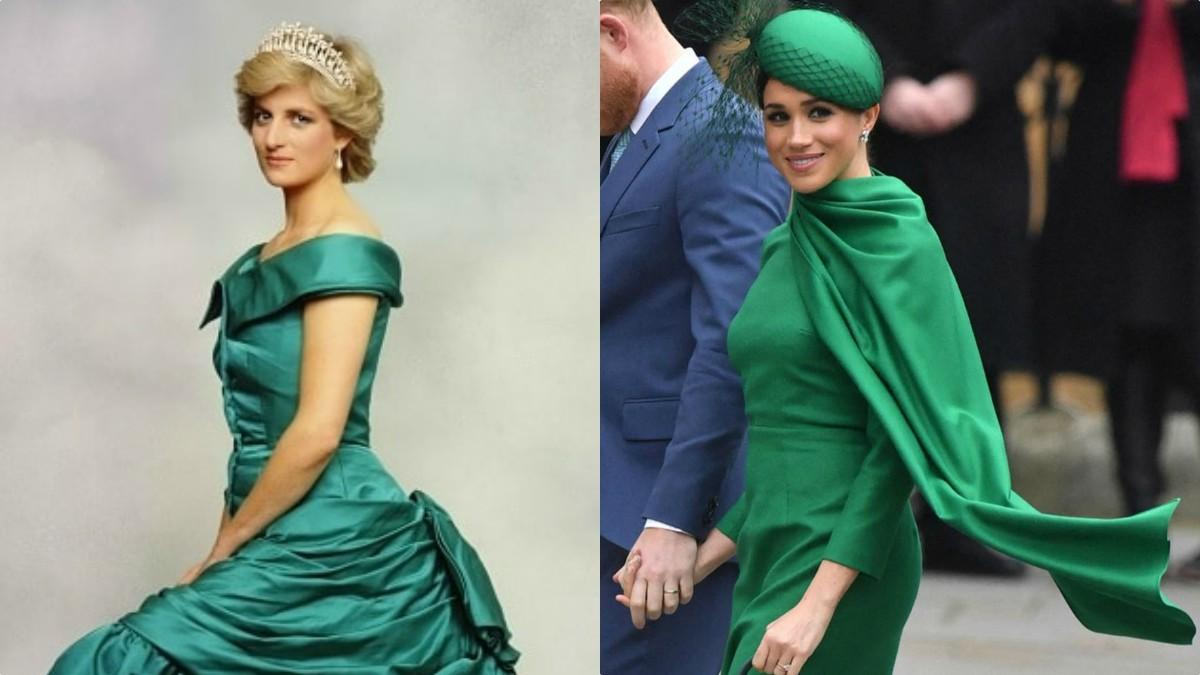 Princess Diana and Meghan Markle