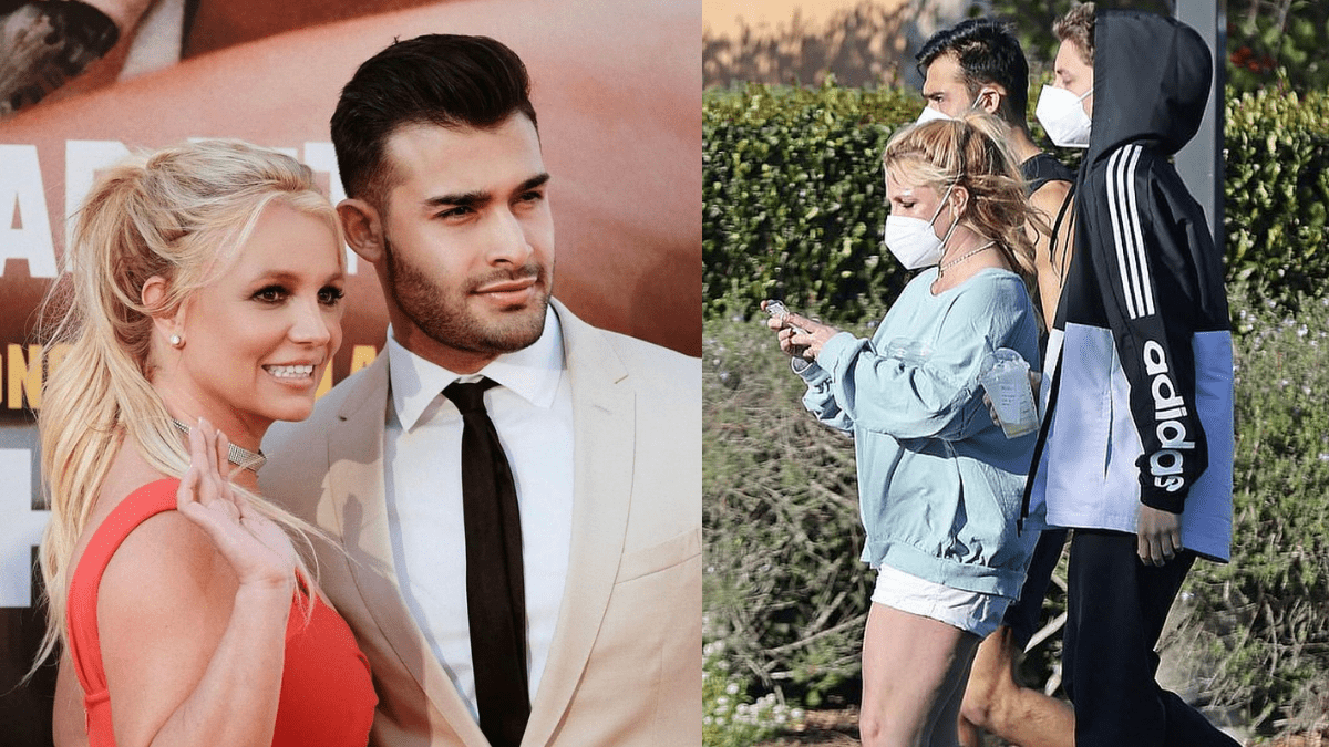 Britney Spears, Sam Asghari, And Son Jayden Spotted On A Outing