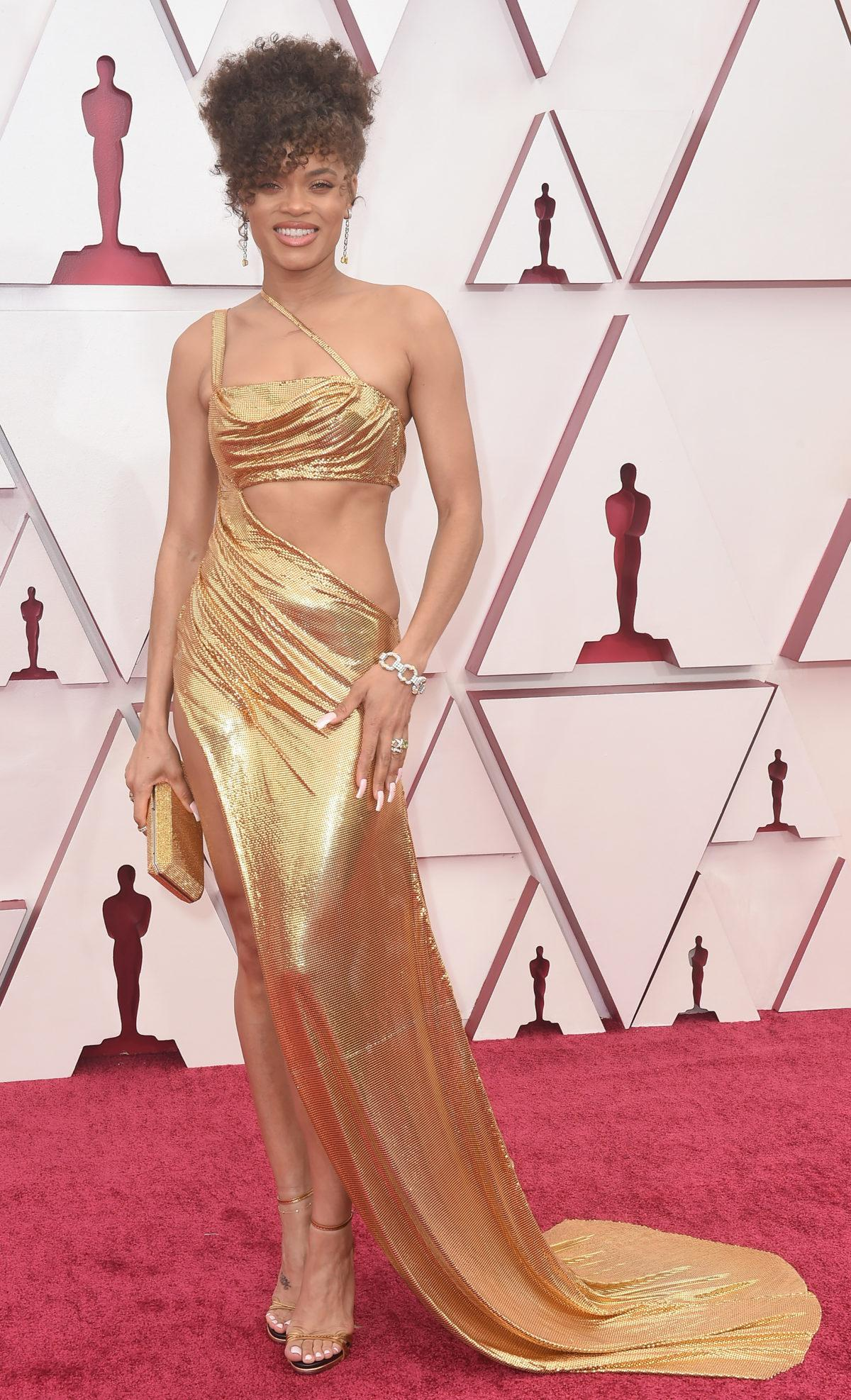 Andra Day Oscars 2021 red carpet
