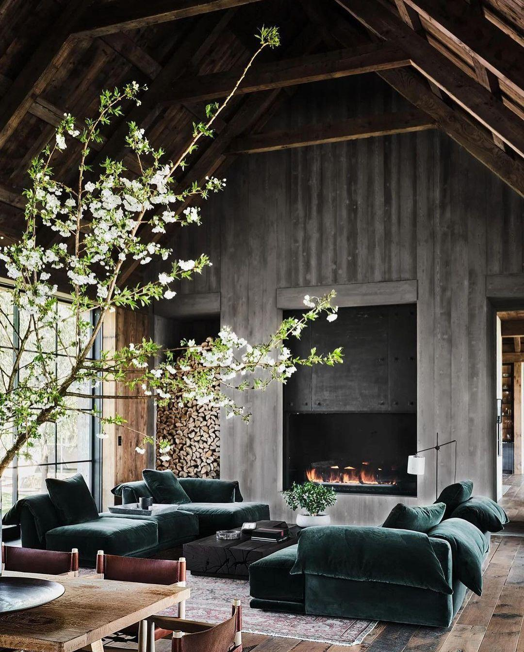 They wanted their house to look like a barn but feel modern.