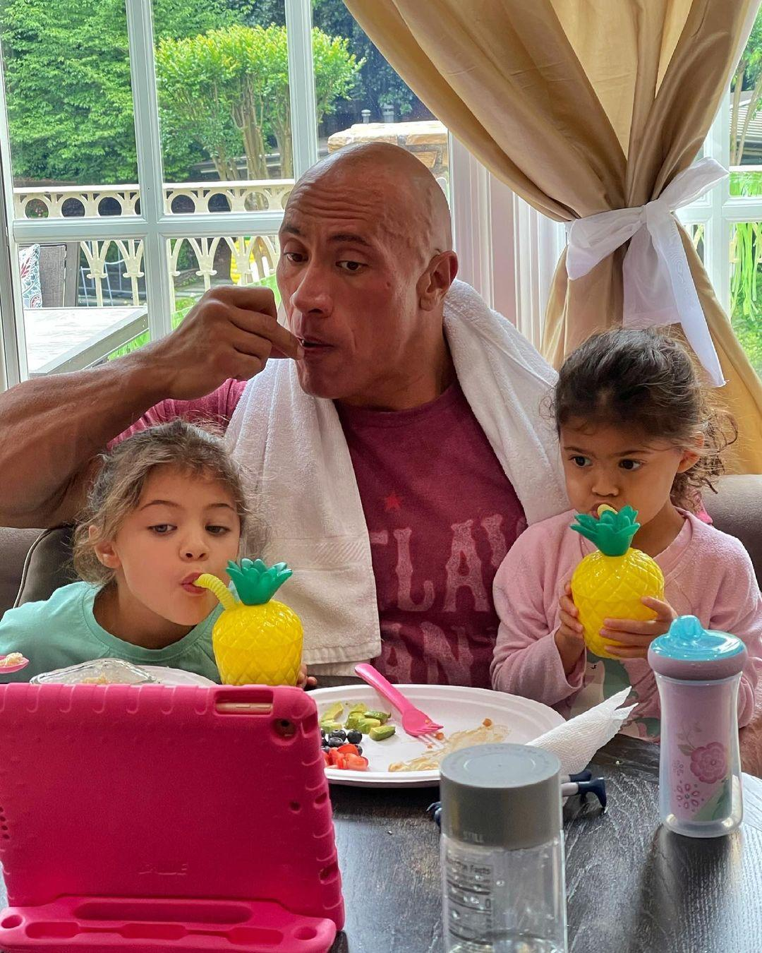 Dwayne Johnson shared a sweet message for daughters on Father's Day 2021