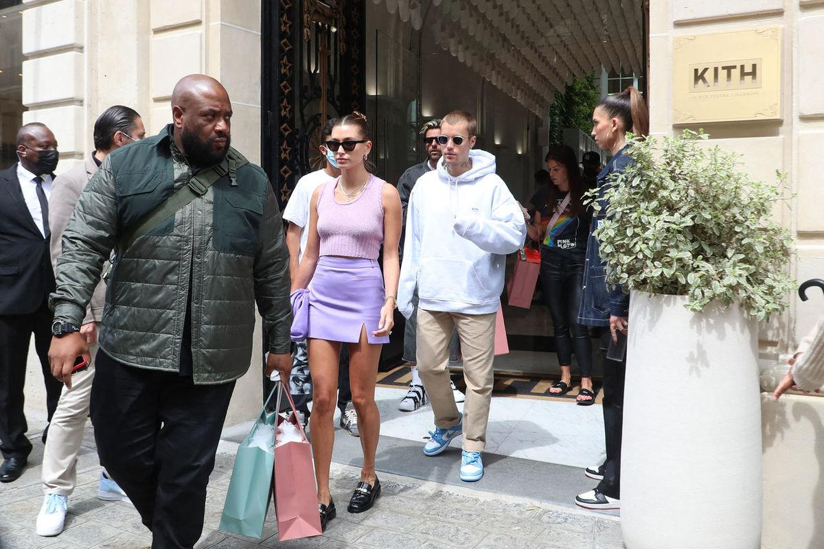 Justin and Hailey in Paris June
