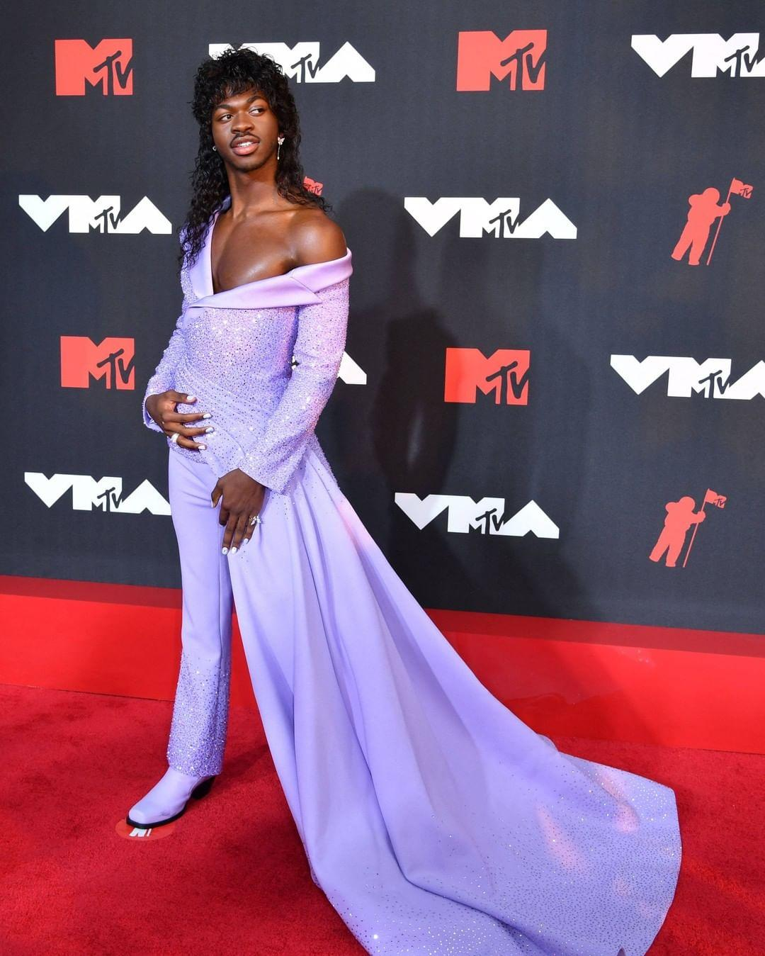 Lil NasX at the VMA red carpet